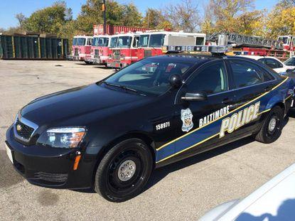 The 2014 Chevy - Baltimore City police car
