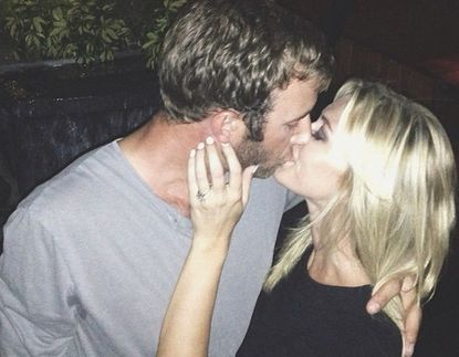 Paulina Gretzky posted this shot on Instagram after saying yes to golfer Dustin Johnson's marriage proposal.