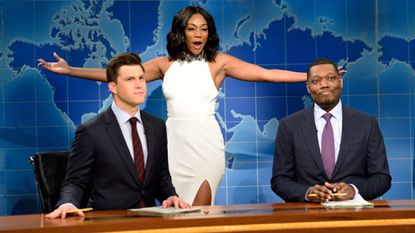 Snl Tackles Sexual Harassment And Tiffany Haddish Makes History As The First Black Female Comedian To Host Baltimore Sun