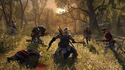 """On Oct. 12, """"Assassin's Creed III"""" will show all the things your 5th grad social studies teacher hid from you about the Revolutionary War."""