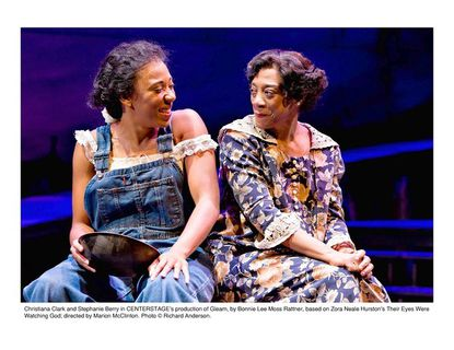"""The bond between Janie (Christiana Clark), left, and Pheoby (Stephanie Berry) is a key element in """"Gleam"""" at Center Stage."""