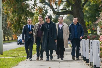 """Martin Freeman, from left, Paddy Considine, Simon Pegg, Nick Frost and Eddie Marsan in """"The World's End."""""""