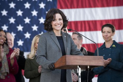 """Julia Louis-Dreyfus stars in HBO's """"Veep,"""" which won a Writers Guild of America award this weekend for best comedy writing. Baltimore-made """"House of Cards"""" also won."""