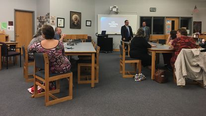 Community members came out the first CCPS town hall meeting Wednesday night.