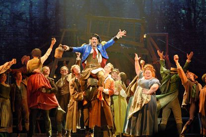 "The ""Les Miserables"" number ""Master of the House"" with Timothy Gulan (Thénardier) and Shawna M. Hamic (Mme. Thénardier)."