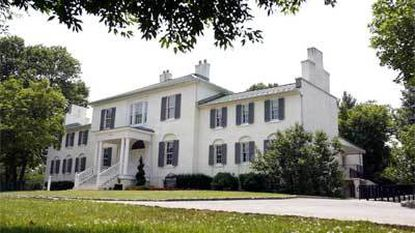 Stately Oakland, a 200-year-old plantation house, is situated on a hill in what is now Columbia's Town Center.