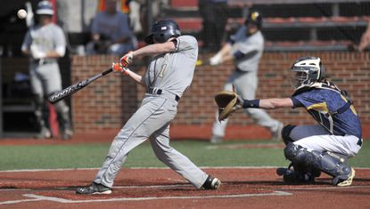 Severna Park's Andrew Anawalt smacksa base hit during the 2015 MPSSAA state baseball tournament against Perry Hall at University of Maryland in College Park. Both Severna Park and Perry Hall enter the 2016 season in The Baltimore Sun Top 15 rankings.