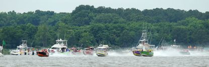 The excitement in Queen Anne's County includes the Thunder on the Narrows power boat races at the Kent Island Yacht Club which raise money each year for the Chesapeake Bay Environmental Center in Grasonville.