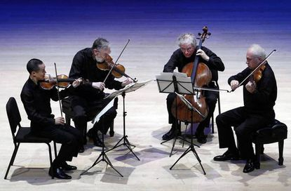 The Juilliard String Quartet, from left: Joseph Lin, Ronald Copes, Joel Krosnick and Roger Tapping.