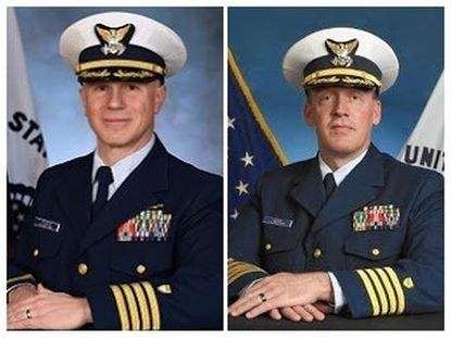 Capt. Paul Stukus, left, last week relieved Capt. Chad Jacoby of his command of the Surface Forces Logistics Center, which is based in Anne Arundel in the Curtis Bay area and is the largest command in the Coast Guard. Stukus came from Coast Guard headquarters in Washington, D.C. - Original Credit:
