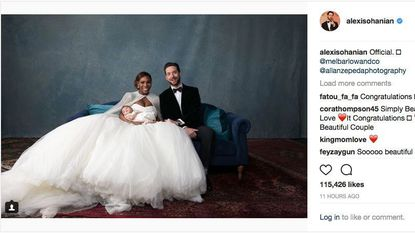 Serena Williams and husband Alexis Ohanian, a Columbia native, share wedding photos