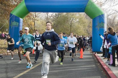 A record 550 participants ran or walked in the Fifth Annual Heather L. Hurd 5K Run and 1 Mile Fun Walk on Nov. 9 at Harford Community College. The race raised $23,000 for Remembrance Book Scholarships.