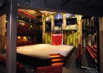 Interior of Chesapeake Shakespeare Company's downtown Baltimore theater.