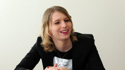 Chelsea Manning, who is running for U.S. Senate, is interviewed in her apartment. Barbara Haddock Taylor