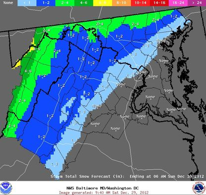 'Light snow event' expectations lowered slightly