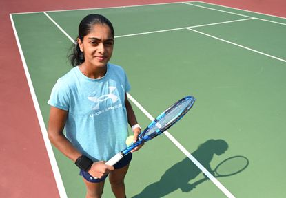 Mt. Hebron freshman Trinetra Vijayakumar went undefeated this spring, finishing the year with a girls 3A singles state championship.