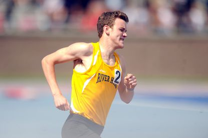 River Hill's Chris Heydrick competes in the Class 3A boys 800-meter run, an event he won, during the 2014 track and field state championships.
