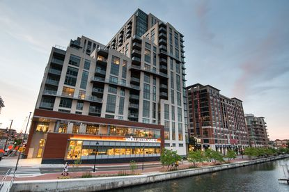 Whole Foods grocery store and food market opened in the Harbor East neighborhood of Baltimore.