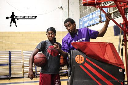 McDonogh guard and Illinois commit Jayla Oden trains with Daryl Adams at Rhythm Dribble in Laurel.