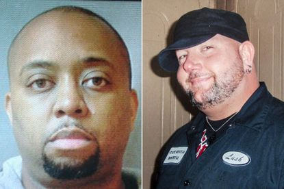 A Maryland jury acquitted N.J. police officer Joseph Walker (left) of murder, finding that he shot Joe Harvey (right) in self defense.