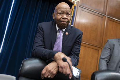"""House Oversight and Reform Committee Chair Elijah Cumming prepares to lead a meeting to call for subpoenas after a career official in the White House security office says dozens of people in President Donald Trump's administration were granted security clearances despite """"disqualifying issues"""" in their backgrounds. Mr. Cummings died at age 68 Thursday."""