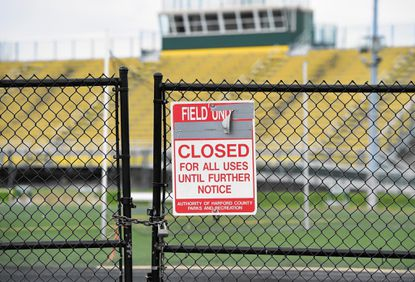 The synthetic turf athletic field at North Harford High School has been closed because of safety issues and is slated to be replaced this summer, according to county officials.