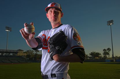Pitcher Joe Gunkel was placed on the Orioles' 40-man organizational roster early this offseason to protect him from being selected in December's Rule 5 draft.