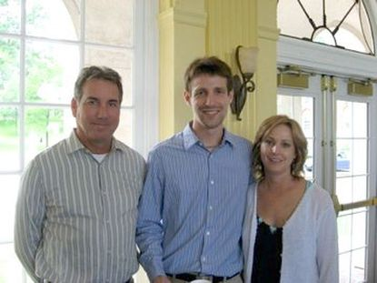 Stephen Pitcairn and his parents, Ian and Gwen Pitcairn, before the Johns Hopkins researcher was killed while walking home from the train station a decade ago.