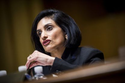 Seema Verma, Centers for Medicare and Medicaid Services administrator, during her Senate Finance Committee confirmation hearing in Washington on Feb. 16, 2017.