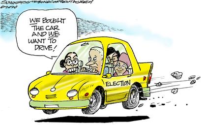 Left-wing expects to assert control over Joe Biden.