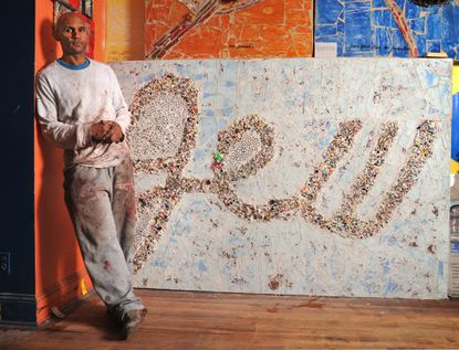 The question of whether to include this work and another by artist Loring Cornish has delayed the opening of an outdoor exhibit at the Johns Hopkins Evergreen House that was to commemorate the 50th anniversary of the Rev. Martin Luther King Jr.'s march on Washington.