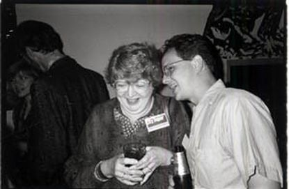 Pamela Purdy chats with Clinton MacSherry at a City Paper Party circa 1991