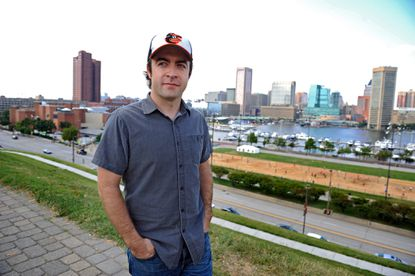 """Derek Waters, a Lutherville native and creator of """"Drunk History,"""" is photographed in Federal Hill last September."""