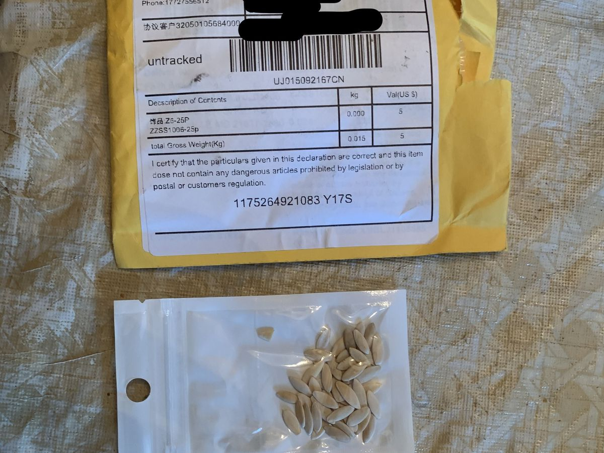 Marylanders, others across the country, sent 'unsolicited packages' of seeds from China