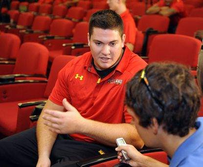 Senior center Sal Conaboy is leading the Maryland football team's efforts in raising money for cystic fibrosis.