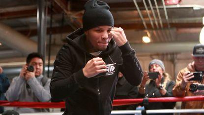 WBA junior lightweight champion Gervonta Davis, shown at the fight week media workout, will defend his title against Hugo Ruiz on Saturday.