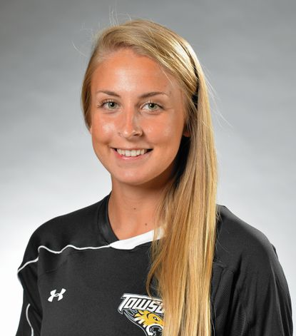 Katlyn Axenfeld finished her collegiate soccer career at Towson University by helping the Tigers to the postseason.