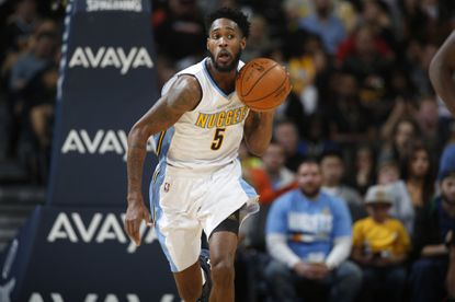 Nuggets forward Will Barton dripples upcourt in the second half in a December game against the Magic.