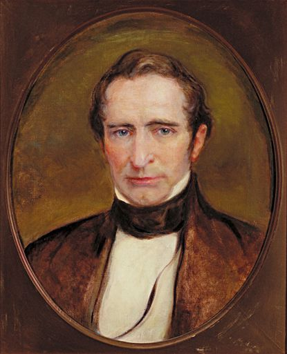 Johns Hopkins (1795-1873) was a successful merchant and investor who included provisions in his will to finance Johns Hopkins University and Johns Hopkins Hospital. This oval portrait of Hopkins as a young man is in the collection of the Johns Hopkins Medical Institutions.