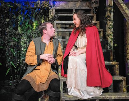 """Carl Pariso as King Arthur and Anna DeBlasio as Guenevere in """"Camelot,"""" now on stage at Compass Rose Theater. Handout - Original Credit:"""