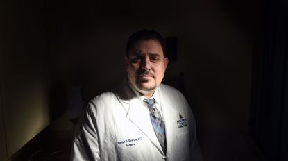 """Johns Hopkins Dr. Joseph Sakran has launched the Twitter account @ThisIsOurLane, a response to the NRA saying that doctors should """"Stay in their lane"""" on the topic of gun control. Sakran is himself a victim of gun violence."""