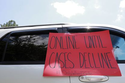 Not everyone agrees with the decision by the Baltimore school system to commit to online learning for only the first part of the fall semester.