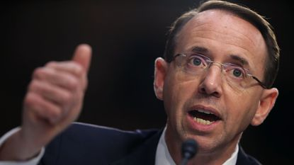 Deputy Attorney General Rod Rosenstein, who was expected to resign or be fired by President Donald Trump on Monday, predicted he might have a short tenure in Washington.