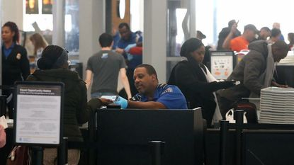 Baltimore/Washington International Thurgood Marshall Airport has the second-longest wait time in the nation. Hartsfield-Jackson Atlanta International Airport has the first.