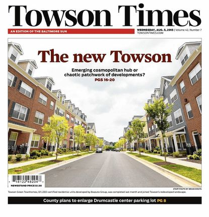 """This story that ran in August 2015 in the Towson Times, """"The new Towson: Emerging cosmopolitan hub or chaotic patchwork of developments?"""" took a Best of Show award in the MDDC Press Association's editorial awards on May 13."""