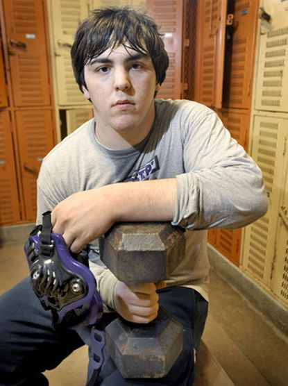 """Mount St. Joseph junior Karl Green calls wrestling """"a sport where you have to rely on yourself to get things done."""""""