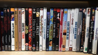 Some of the titles at Beyond Video, a new video rental store set to open Friday at 2545 N. Howard St.
