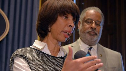 Baltimore Mayor Catherine Pugh has proposed state legislation that would expand the city police commissioner's authority to fire officers accused of wrongdoing. Solicitor André M. Davis says the bill seeks to narrow officers' expansive due process rights.