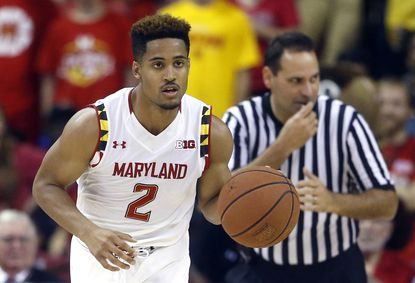 Maryland guard Melo Trimble drives the ball in the second half of an NCAA college basketball exhibition game against Southern New Hampshire, Friday, Nov. 6, 2015, in College Park, Md.Trimble had 15 points and seven assists in the Terps' win over Illinois State in the Cancun Challenge on Tuesday, Nov. 24.