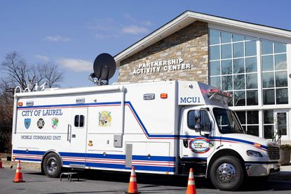 Laurel's new mobile command unit was on display outside the Laurel Police Department during a lunch for media professionals Feb. 21.
